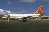 Aloha Airlines Boeing 737-159 N73717 (msn 19680) (Funbird) HNL (Bruce Drum). Image: 103020.