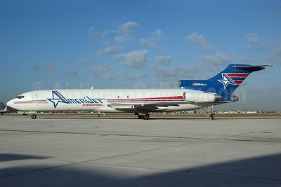 AmeriJet International Boeing 727-225 (F) N604AJ (msn 21453) MIA (Bruce Drum). Image: 100152.
