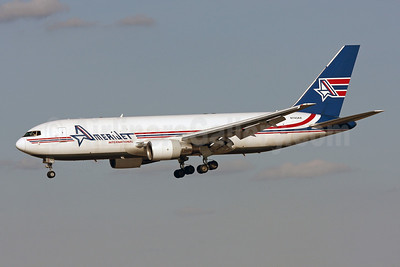 AmeriJet International Boeing 767-232 (F) N743AX (msn 22218) MIA (Brian McDonough). Image: 907541.