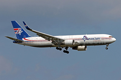 AmeriJet International Boeing 767-323 ER (F) WL N378CX (msn 27184) IAD (Brian McDonough). Image: 947567.