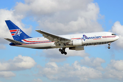 AmeriJet International Boeing 767-232 (F) N743AX (msn 22218) MIA (Bruce Drum). Image: 104291.