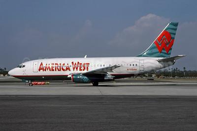 America West Airlines Boeing 737-2U9 N149AW (msn 22575) LAX (Roy Lock). Image: 947052.