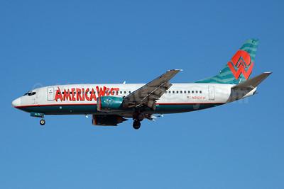 America West Airlines Boeing 737-3S3 N312AW (msn 24060) LAS (Bruce Drum). Image: 100265.