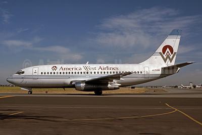 America West Airlines Boeing 737-222 N135AW (msn 19940) SJC (Bruce Drum). Image: 101085.