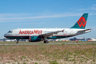 America West Airlines Airbus A319-132 N818AW (msn 1375) JFK (Fred Freketic). Image: 949687.