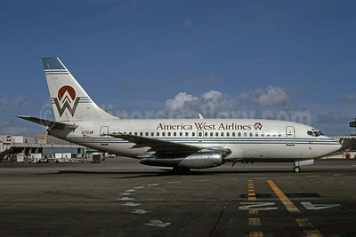 America West Airlines Boeing 737-130 N701AW (msn 19013) LAX (Keith Armes). Image: 907428.