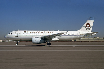 America West Airlines Airbus A320-231 N628AW (msn 067) PHX (Bruce Drum). Image: 101104.