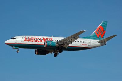 America West Airlines Boeing 737-3G7 N307AW (msn 24634) LAS (Bruce Drum). Image: 100267.