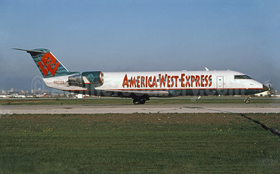 America West Express-Mesa Airlines Bombardier CRJ200 (CL-600-2B19) N27172 (msn 7172) YYZ (TMK Photography). Image: 907716.