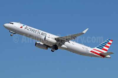 American Airlines Airbus A321-231 WL N163AA (msn 6866) LAX (Michael B. Ing). Image: 936840.