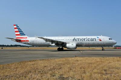 American Airlines Airbus A321-211 N163US (msn 1417) SEA (Bruce Drum). Image: 104715.