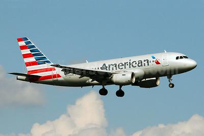 US Airways operating in American colors