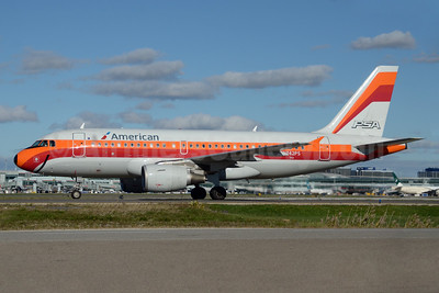 American Airlines Airbus A319-112 N742PS (msn 1275) (PSA 1977 retrojet) YYZ (TMK Photography). Image: 935252.