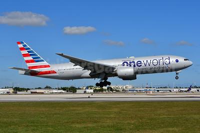 American Airlines Boeing 777-223 ER N791AN (msn 30254) (Oneworld) MIA (Ken Petersen). Image: 948856.
