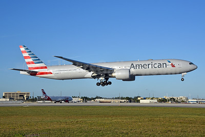 American Airlines Boeing 777-323 ER N719AN (msn 41668) MIA (Bruce Drum). Image: 105230.