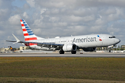 American Airlines Boeing 737-8 MAX 8 N304RB (msn 44463) MIA (Bruce Drum). Image: 104591.