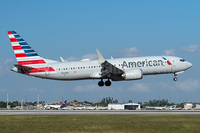 American Airlines Boeing 737-8 MAX 8 N308RD (msn 44446) MIA (Andy Cripps). Image: 945356.