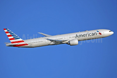 American Airlines Boeing 777-323 ER N717AN (msn 31543) LHR (Terry Wade). Image: 911240.
