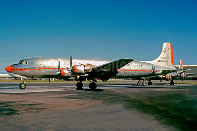 American Airlines Air Freight Douglas DC-7B (F) N390AA (msn 44924) SFO (Jacques Guillem Collection). Image: 927566.