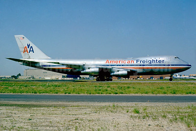 Converted Boeing 747-123 passenger aircraft