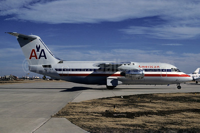 American Airlines BAe 146-200 N697AA (msn E2055) OKC (Denis Goodwin - Bruce Drum Collection). Image: 101913.