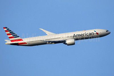 American Airlines Boeing 777-323 ER N726AN (msn 31550) LHR (SPA). Image: 927360.