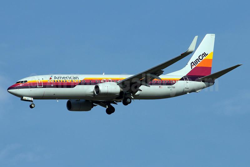 American Airlines-AirCal Boeing 737-823 WL N917NN (msn 29572) (AirCal colors) IAD (Brian McDonough). Image: 933936.