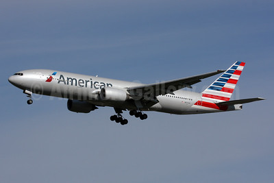 American Airlines Boeing 777-223 ER N757AN (msn 32636) LHR (SPA). Image: 924931.