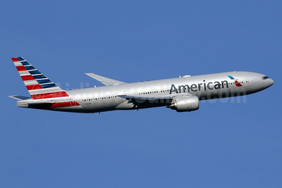 American Airlines Boeing 777-223 ER N757AN (msn 32636) LHR (SPA). Image: 934903.
