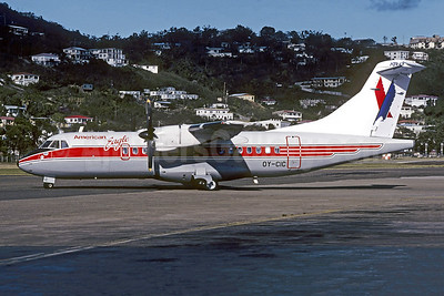 American Eagle Airlines (2nd)-Executive Airlines (2nd) (Cimber Air) ATR 42-300 OY-CIC (msn 24) (Cimber Air colors) STT (Christian Volpati Collection). Image: 952339.