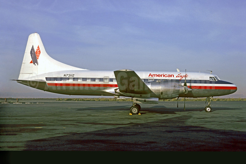 American Eagle Airlines (2nd)-Metro Airlines (Metroflight) Convair 580 N73112 (msn 16) (Christian Volpati Collection). Image: 927577.