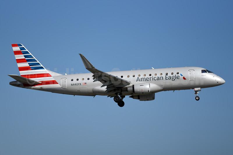 American Eagle Airlines (2nd)-Republic Airlines (2nd) Embraer ERJ 170-200LR (ERJ 175) N440YX (msn 17000435) MIA (Bruce Drum). Image: 104381.