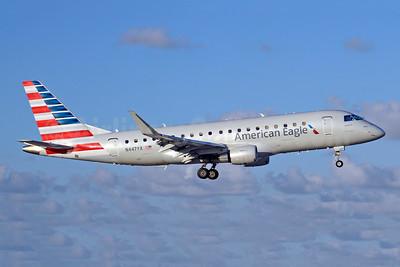 American Eagle Airlines (2nd)-Republic Airlines (2nd) Embraer ERJ 170-200LR (ERJ 175) N447YX (msn 17000463) MIA (Jay Selman). Image: 403927.