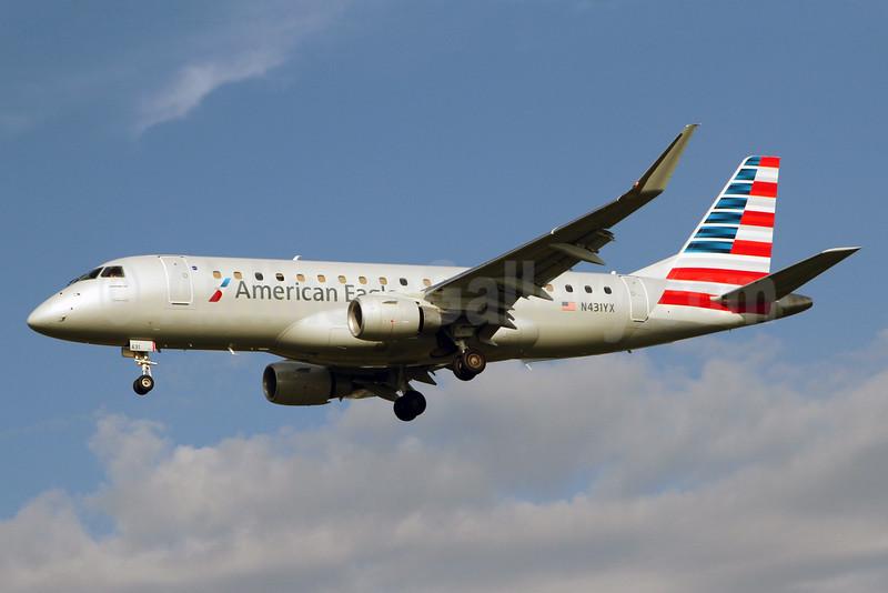 American Eagle Airlines (2nd)-Republic Airlines (2nd) Embraer ERJ 170-200LR (ERJ 175) N431YX (msn 17000413) DCA (Brian McDonough). Image: 924446.