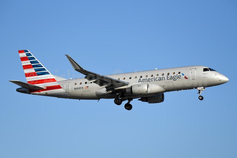 American Eagle Airlines (2nd)-Republic Airlines (2nd) Embraer ERJ 170-200LR (ERJ 175) N414YX (msn 17000377) MIA (Bruce Drum). Image: 104373.