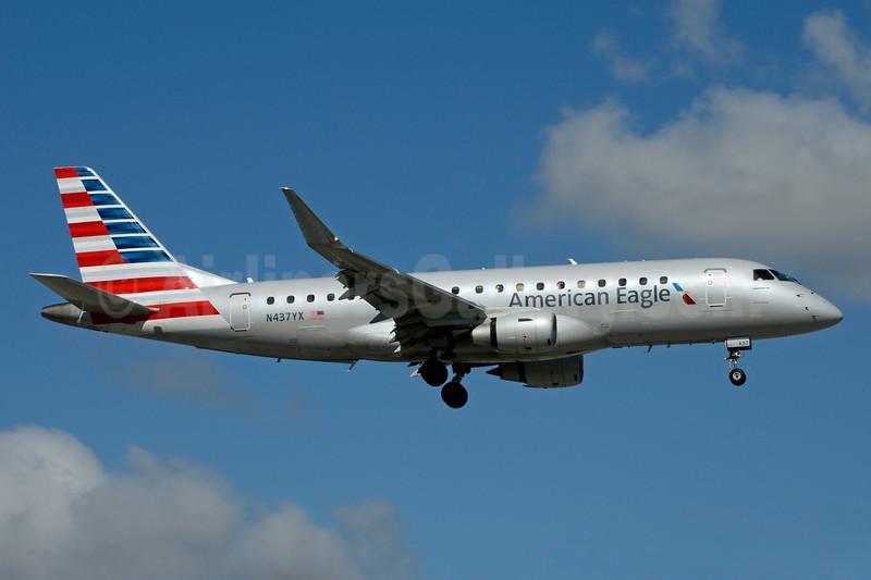 American Eagle Airlines (2nd)-Republic Airlines (2nd) Embraer ERJ 170-200LR (ERJ 175) N437YX (msn 17000366) MIA (Jay Selman). Image: 403470.