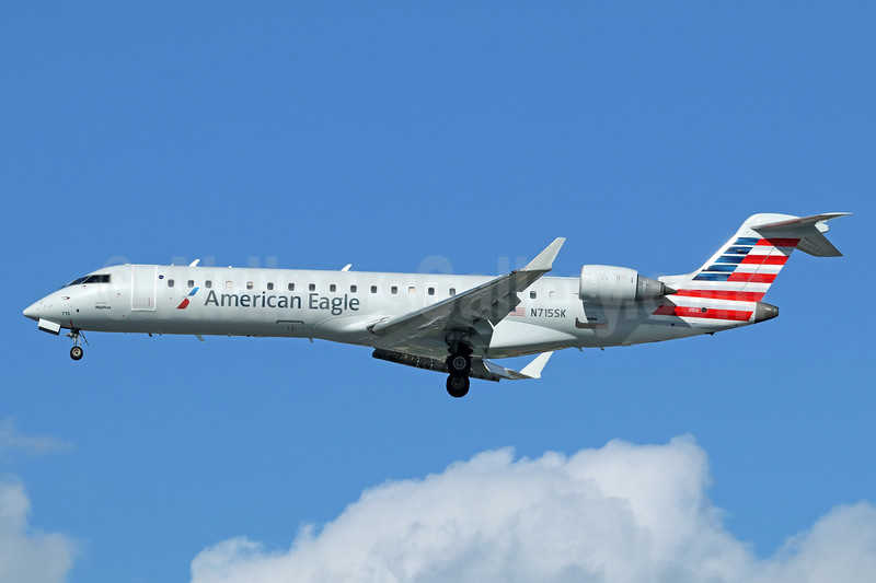 American Eagle Airlines (2nd)-SkyWest Airlines Bombardier CRJ700 (CL-600-2C10) N715SK (msn 10179) LAX (Michael B. Ing). Image: 937552.