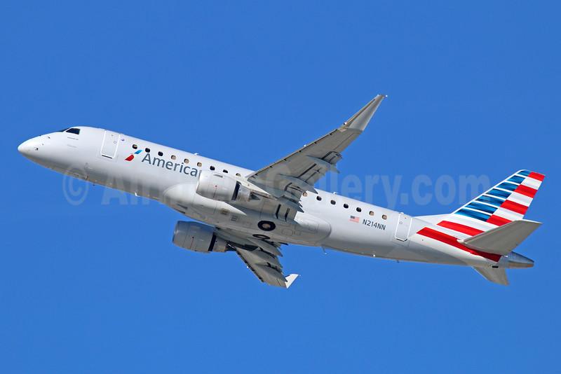 American Eagle Airlines (2nd)-Republic Airlines (2nd) Embraer ERJ 170-200LR (ERJ 175) N214NN (msn 17000508) LAX (Michael B. Ing). Image: 930436.