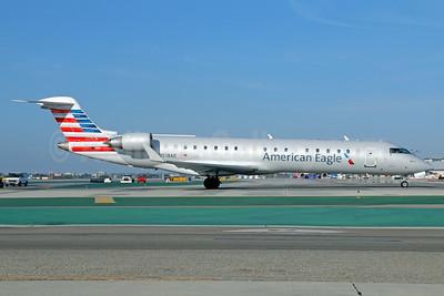 American Eagle (2nd)-Envoy Bombardier CRJ700 (CL-600-2C10) N518AE (msn 10126) LAX. Image: 923023.