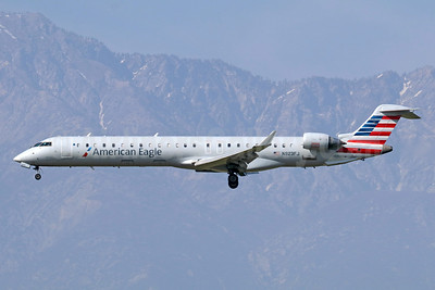 American Eagle Airlines (2nd)-Mesa Airlines Bombardier CRJ900 (CL-600-2D24) N923FJ (msn 15023) ONT (Michael B. Ing). Image: 942049.