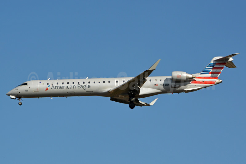 American Eagle (2nd)-PSA Airlines (2nd) Bombardier CRJ900 (CL-600-2D24) N566NN (msn 15353) CLT (Jay Selman). Image: 403060.