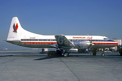 American Eagle - Wings West Airlines Convair 580 N73121 (msn 35) SFO (Jacques Guillem Collection). Image: 939626.