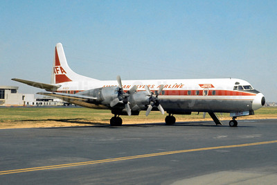 American Flyers Airline-AFA Lockheed 188C Electra N182H (msn 1133) DCA (Jacques Guillem Collection). Image: 945426.