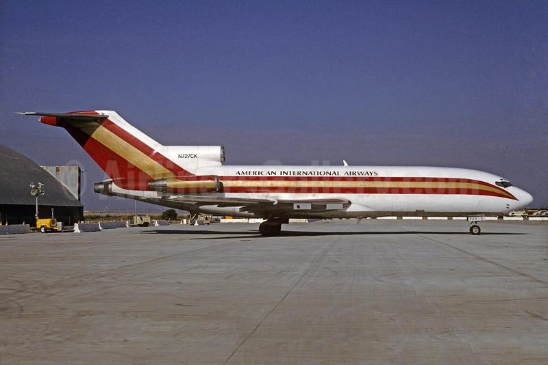 American International Airways (3rd) (Kalitta) Boeing 727-22C N727CK (msn 19195) DTW (Ron Kluk). Image: 929871.