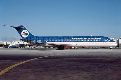 American International Airways (2nd) McDonnell Douglas DC-9-32 N3991C (msn 47175) MIA (Bruce Drum). Image: 103292.