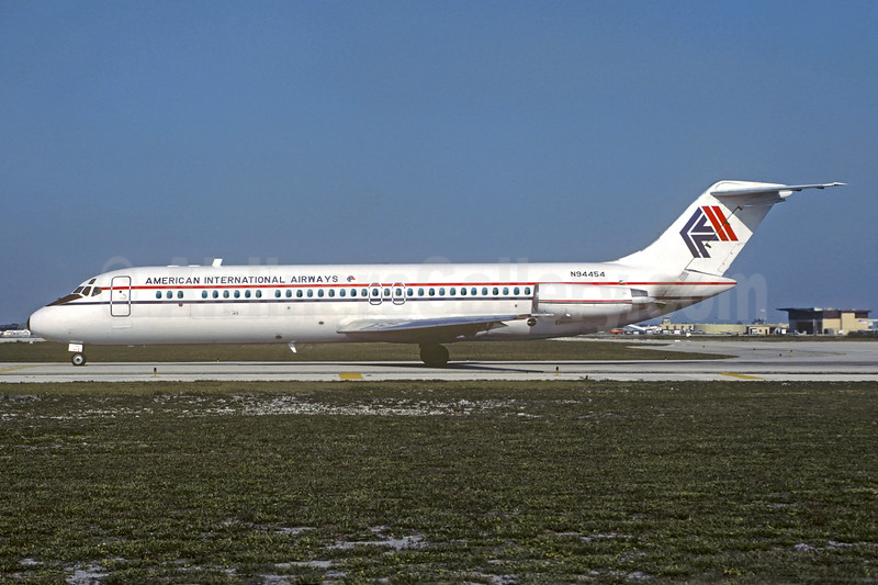 American International Airways (2nd) McDonnell Douglas DC-9-33CF N94454 (msn 47291) FLL (Nigel P. Chalcraft). Image: 921749.