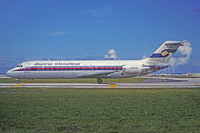American International Airways (2nd) McDonnell Douglas DC-9-32 N4549V (msn 47639) (Spantax colors) FLL (Christian Volpati Collection). Image: 921748.
