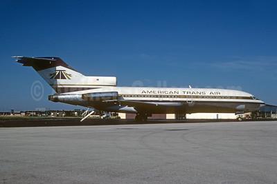 American Trans Air-ATA Boeing 727-22 N7087U (msn 19151) MKE (Bruce Drum). Image: 102277.