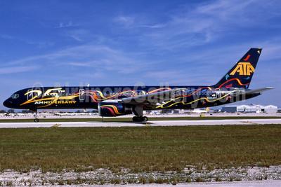 "ATA's 1998 ""25th Anniversary"" 757 logo jet"