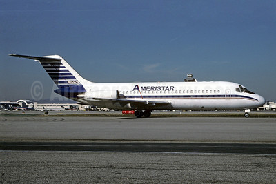 Ameristar Air Cargo McDonnell Douglas DC-9-15F N783TW (msn 47010) (Reliant Airlines colors) LAX (Roy Lock). Image: 909560.